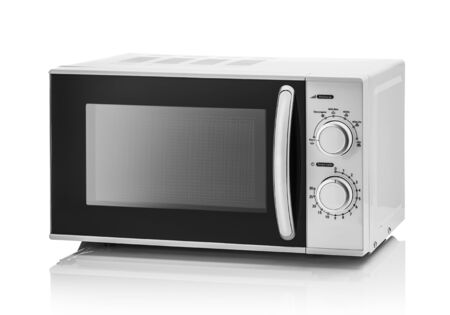 White microwave oven on a white
