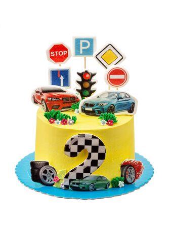 Themed cake for a boy car lover cars Imagens