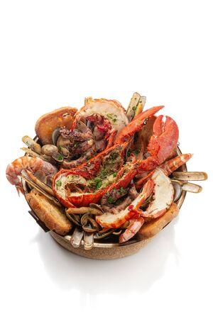 Portuguese cataplan dish made from marine mollusks.