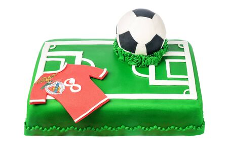 Sugar paste cake for a football club Benfica fan.
