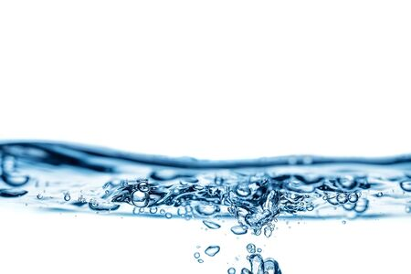 Abstract, minimalistic splash of water on a white background. Copy space.