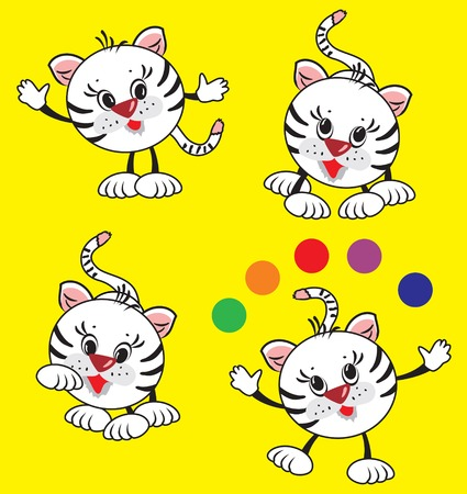 mimicry: playing tiger Illustration