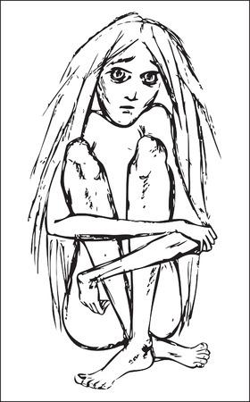 famine: girl