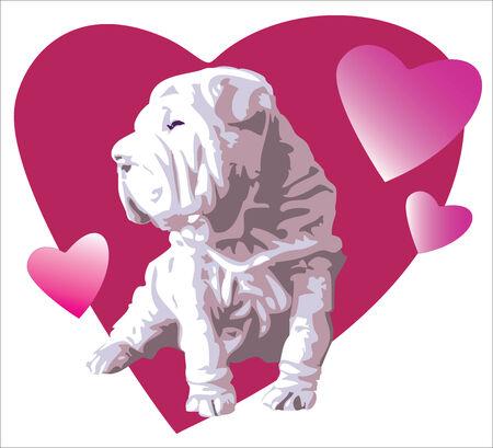 favourite: favourite dog Illustration
