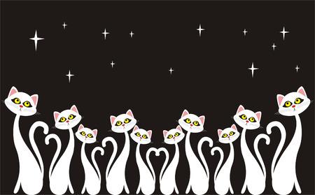 large group of animals: Coro de la noche