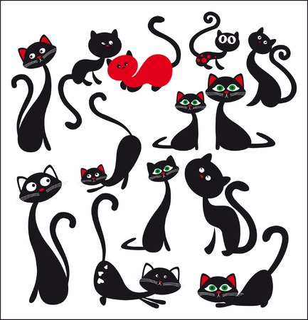 silueta de gato negro: gato