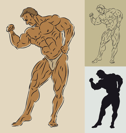bodybuilder Stock Vector - 7312145