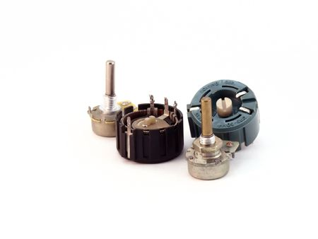 Variable resistors Stock Photo