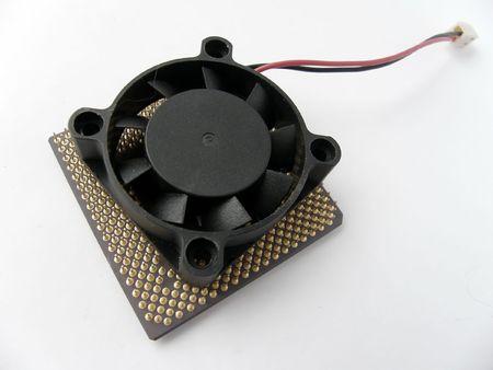 baffle: Microprocessor and fan