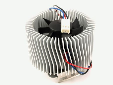 Cooling radiator for chip Stock Photo