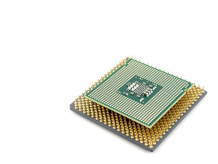 intel: Two microprocessors Stock Photo