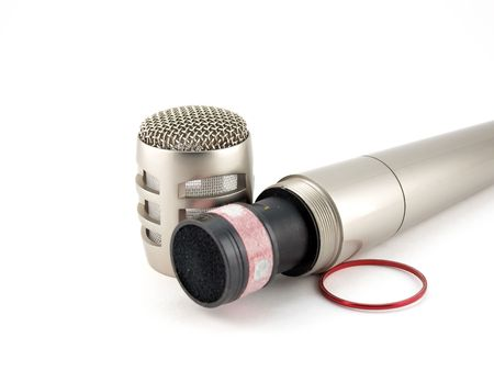 disassembled: Disassembled microphone Stock Photo
