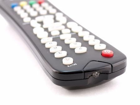 Remote console for TV Stock Photo