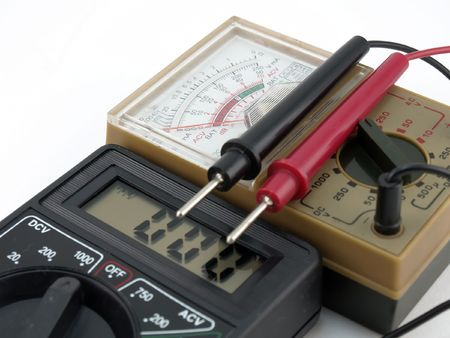 Pointer and digital multimeters