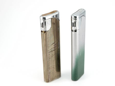 Two old lighters Stock Photo