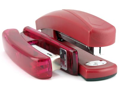 Two pink staplers Stock Photo - 6117277