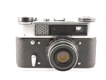 Old Films Camera. Stock Photo
