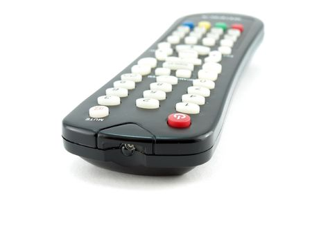 operating key: Remote console for TV Stock Photo