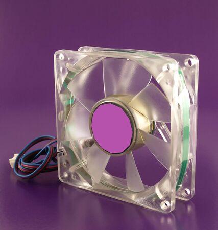 Fan on violet background