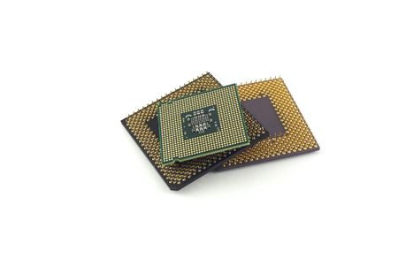 Microprocessors. Stock Photo