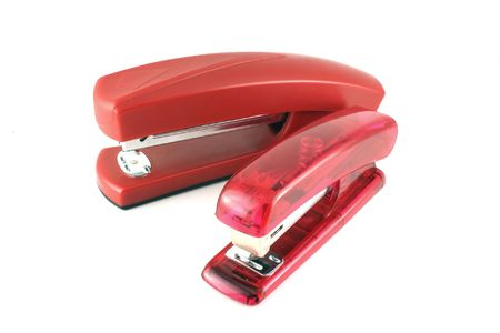 Two pink stapler Stock Photo - 6797554