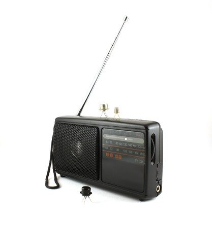 ポケット ラジオやトランジスタ 写真素材