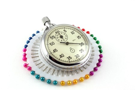 Scatter pins and Stop-watch photo
