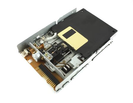 Disk drive and floppy disk Stock Photo - 7091757