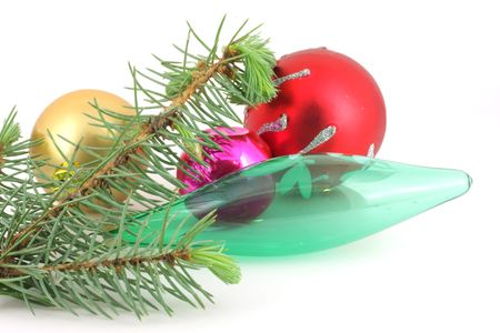 Firry twig and color toys. Stock Photo - 7173289