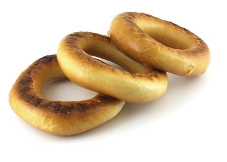 baranka: Three baranka (bread-ring). Stock Photo