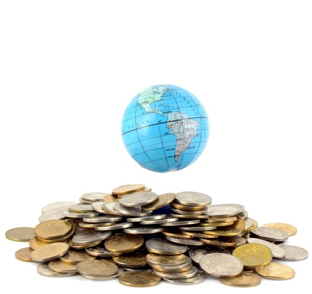 Earth over money Stock Photo - 8265725