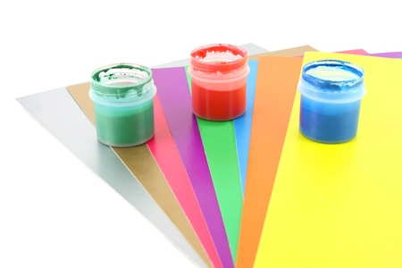 Color papers and water-colour photo
