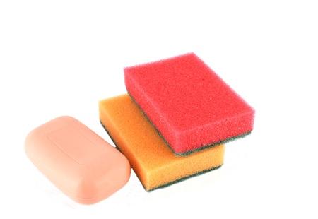 Color sponges and soap photo