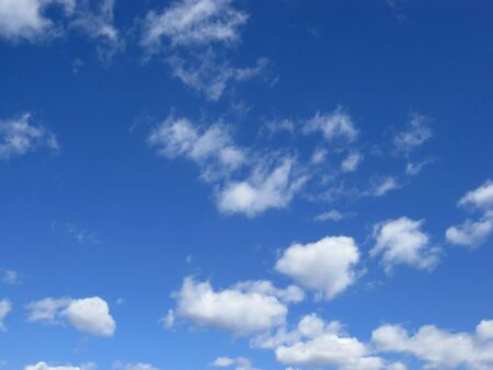 Blue sky with clouds. Air nature. photo