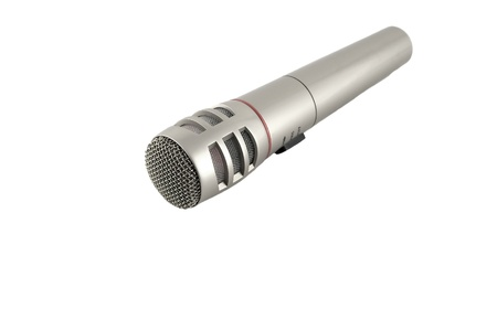 Microphone over white. Shallow DOF.  Stock Photo - 10593547