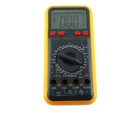 Multimeter over white Stock Photo - 10890569
