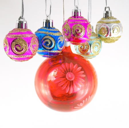 Multicolor christmas balls Stock Photo - 11410013