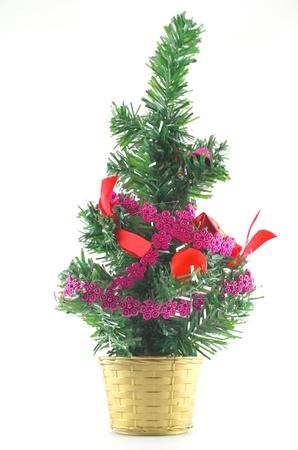 Christmas tree decoration over white Stock Photo - 11744159