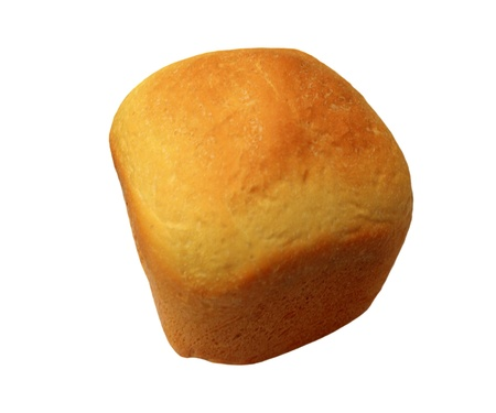Home-made bread over white. Shallow DOF.  Stock Photo - 12085584