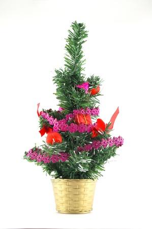 Christmas tree decoration over white Stock Photo - 12085658
