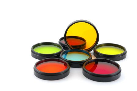 Color filters for lenses over white Stock Photo - 12758448