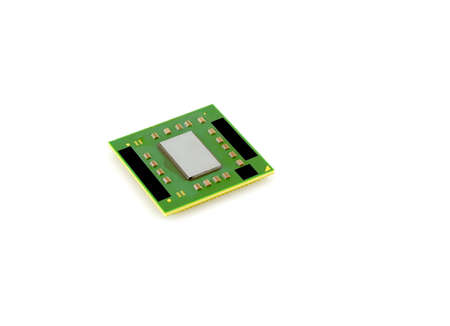 Processor for notebook  computer  over white Stock Photo - 12756941