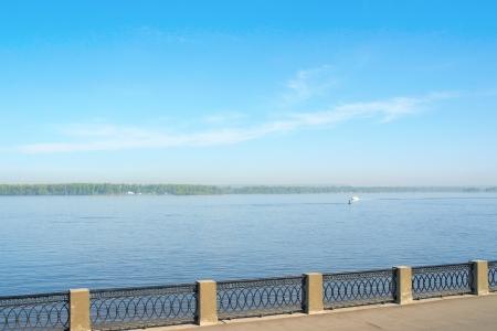 View on the coast of river Volga in the city Samara photo