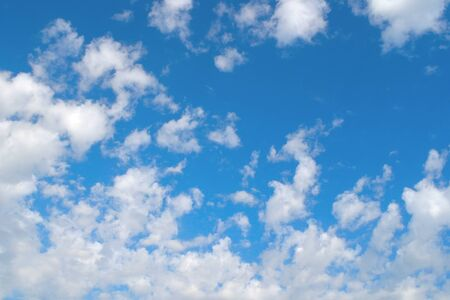 Beautiful blue sky with clouds, air nature Stock Photo - 16956813