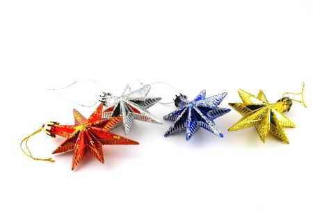 Holiday decoration, color stars for New Year's tree Stock Photo - 17255866
