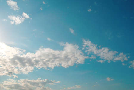 Beautiful blue sky with clouds, air nature Stock Photo - 17441788