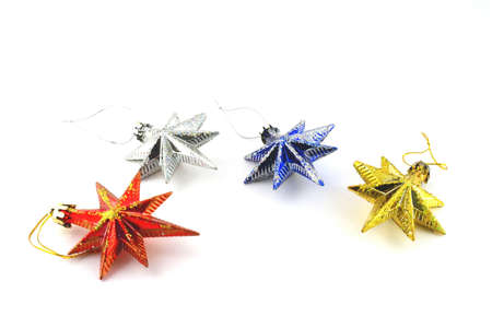 Holiday decoration, color stars for New Year's tree Stock Photo - 17441768