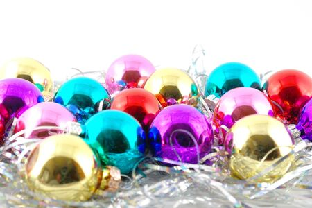 Holiday decoration, color balls for New Year's tree Stock Photo - 17441803