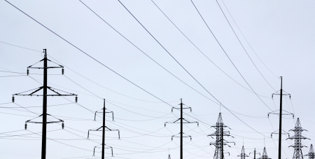 Power lines over sky photo