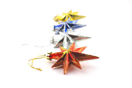 Holiday decoration, color stars for New Year Stock Photo - 18029824
